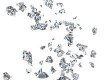 Сломленные стеклянные черепки и части иллюстрация вектора
