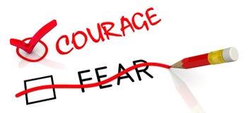 Смелость но не страх Концепция изменять заключение иллюстрация штока