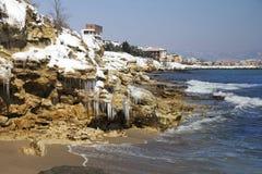 Снег на море стоковая фотография rf