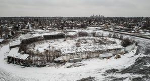 Снег покрыл след стоковые изображения rf