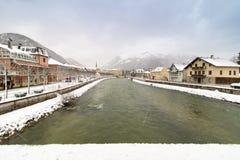 Снежности в плохом Ischl стоковые изображения rf