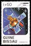 Спутниковый, serie космоса, около 1983 стоковое изображение