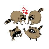 Cute cartoon raccoon royalty free illustration