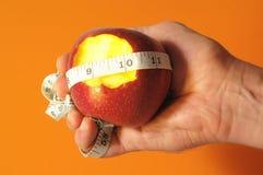Сдержанная диета Яблоко стоковое изображение rf