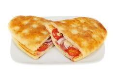 2 сэндвича focaccia стоковая фотография