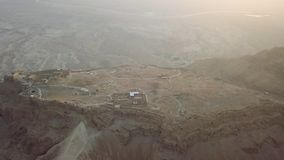 Съемка masada взгляда сверху в пустыне стоковая фотография