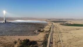 Станция солнечной энергии сток-видео