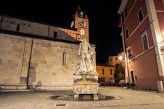 Статуя Андреа Doria как Нептун в Карраре стоковое фото rf
