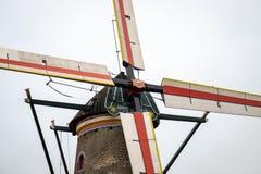 Старая голландская ветрянка в Nispen стоковое изображение
