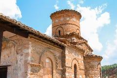 Старая правоверная церковь bysantine Panagia в городе кастории, западной Македонии, Греции стоковое фото rf