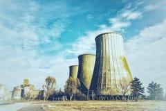 Старая электростанция стоковые изображения