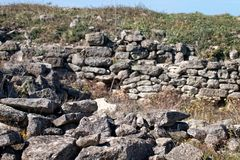 Старые археологические раскопки покинули стоковое фото rf