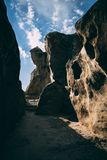 старые пещеры стоковое фото