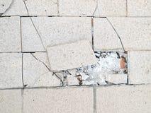 Старые стены треснуты стоковые фотографии rf