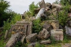 Старые части здания руин Вторая мировой войны в Штутгарте стоковые фото