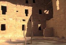 Старые руины в национальном парке мезы Verde стоковые фотографии rf