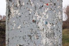 Старый затрапезный треснутый штендер стоковое изображение rf
