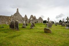 Старый монашеский город Clonmacnoise в Ирландии стоковая фотография