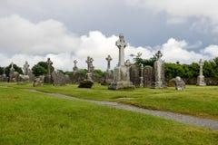 Старый монашеский город Clonmacnoise в Ирландии стоковые изображения