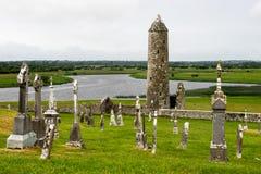 Старый монашеский город Clonmacnoise в Ирландии стоковое изображение rf