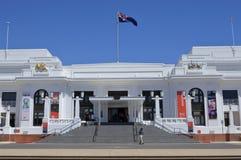 Старый дом парламента в территории Австралии парламентской зоны Канберры прописной стоковые изображения rf