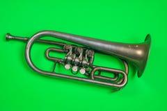 старый серебряный trumpet стоковая фотография rf