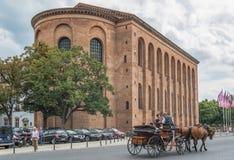 Старый Трир городка, место всемирного наследия ЮНЕСКО стоковая фотография