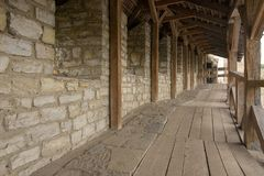 Стена крепости каменная стоковые фото