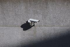стена наблюдения обеспеченностью принципиальной схемы камеры стоковая фотография