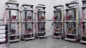Стенды теста в лаборатории для продукции микропроцессорных приборов защиты и автоматизации сток-видео