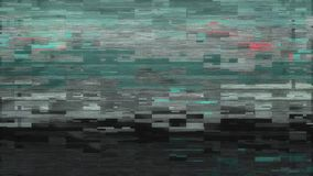 стилизованное повреждение ошибки небольшого затруднения шума пиксела 4K видеоматериал