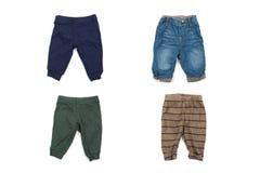 Стильные брюки младенца стоковые изображения