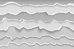 Страница бумаги сулоя Сорванная граница grunge страницы прозрачная, сломленный белый картон, грубая поврежденная текстура scrapbo иллюстрация штока