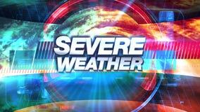 Строгая погода - графики ТВ передачи озаглавливают иллюстрация штока