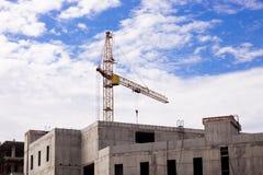 строительный кран. Construction crane, construction of high buildings Stock Photo
