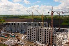 Строительство новых домов Stock Photos