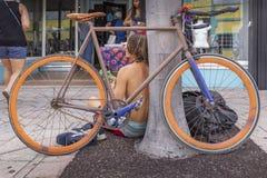 Стоимость озера, Флорида, США сказочное 23-24, 25Th ежегодный фестиваль картины улицы 2019 стоковое фото rf