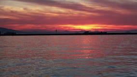 Сцена захода солнца в море акции видеоматериалы