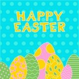 Счастливая открытка цвета пасхи иллюстрация штока
