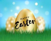Счастливые пасхальные яйца иллюстрация вектора