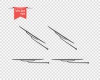 Счищатель лобового стекла в inclement погоде иллюстрация вектора, элементы дизайна на изолированной прозрачной предпосылке иллюстрация штока