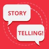 Схематическое сочинительство руки показывая говорить рассказа Текст фото дела говорит или пишет рассказы делит личное иллюстрация вектора