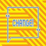 Схематическое сочинительство руки показывая изменение Изменение перехода изменения диверсии регулировки изменения фото дела showc иллюстрация штока