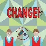 Схематическое сочинительство руки показывая изменение Переход изменения диверсии регулировки изменения фото дела showcasing бесплатная иллюстрация