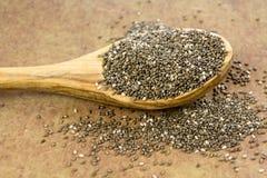 Сырцовые семена Chia стоковые фотографии rf