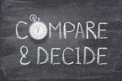 Сравните и решите стоковые фото