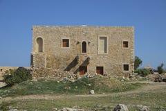Средневековые городища в Rethymno, Крите, Греции стоковое фото