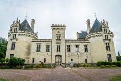 Средний возраст и ренессанс замка Brezé в Стране Луары во Франции стоковое изображение