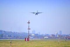 Ð¡-27J SPARTAN  aerial acrobatics Royalty Free Stock Photography