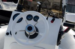 Ð¡abin in the boat stock photography